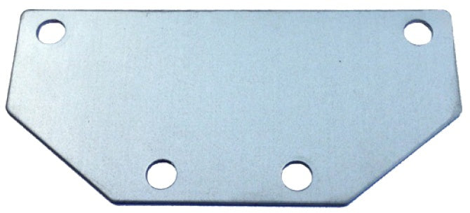 mounting plate for reflector silver 9.5 x 4.5 cm