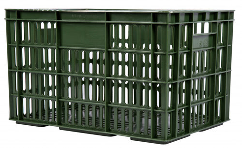 bicycle crate plastic 33.6 litres army green