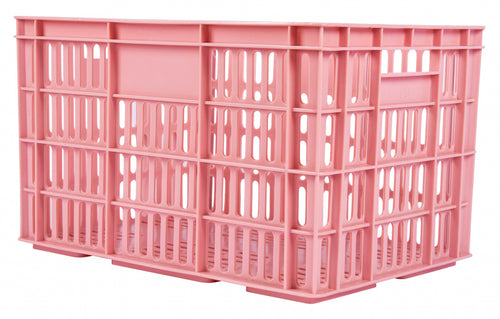 bicycle crate plastic 33.6 liters pink
