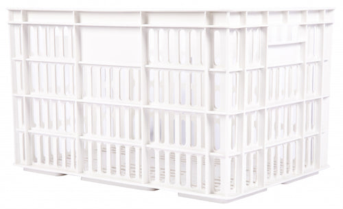 bicycle crate plastic 33.6 litres white