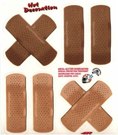 bicycle sticker Band AID brown