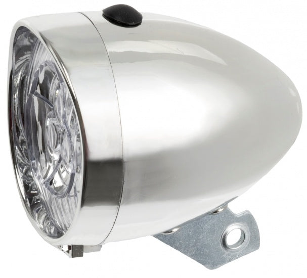 Headlamp LED battery silver