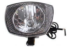 headlight with plug halogen alternator black