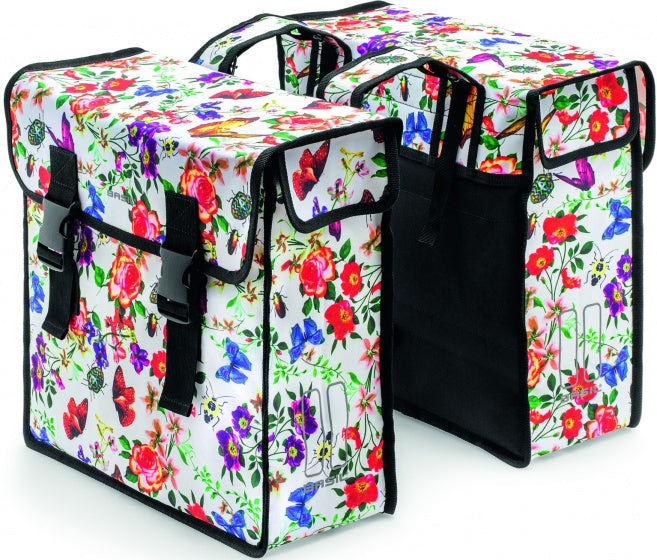 double pannier Mara XL Meadow 35 litres white/multicolor