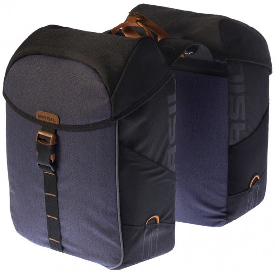double pannier Miles 37L blue / gray