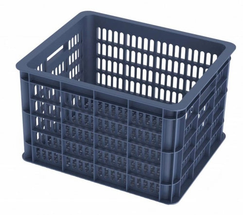 bike crate bluestoneplastic 33 litres dark blue