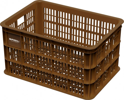 bike crate Crate Lplastic 50 litres brown