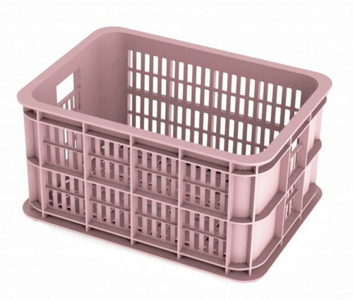 bicycle crate Faded Blossom 25 liters pink