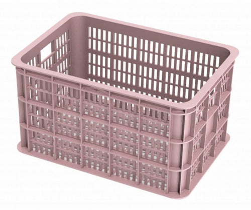 bike crate faded blossomplastic 50 litres pink