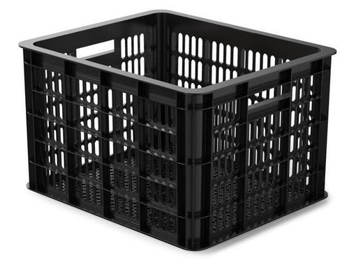 bicycle crate plastic 50 litres black