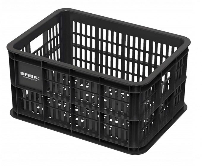 bicycle crate plastic 25 litres black