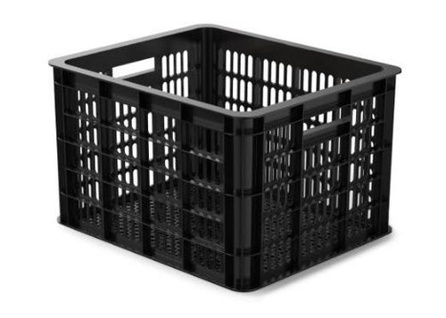 bike crate plastic 33 litres black