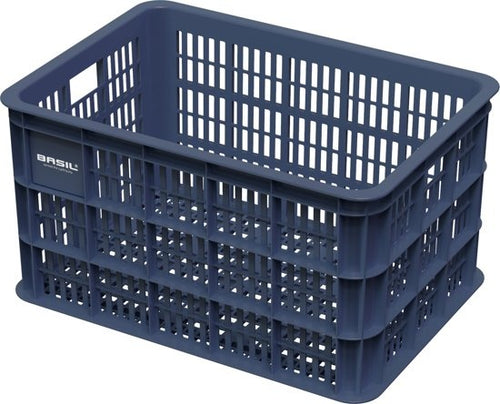 bike crate plastic for 50 liters dark blue