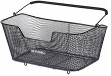 bicycle basket behind Base detachable black 34 liters