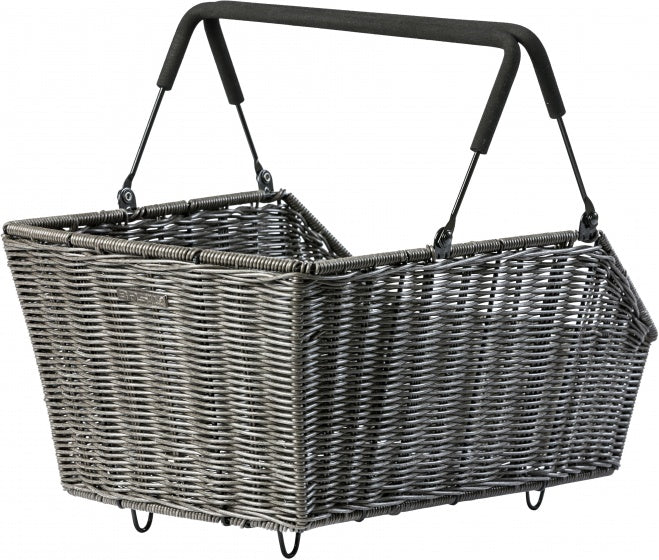 bicycle basket behind Cento-Rattan21.5 litres brown