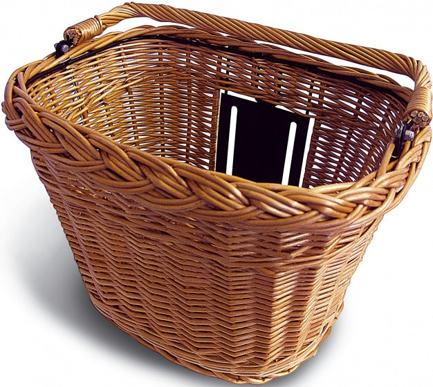 bicycle basket Basimply Wicker rattan 32 liters brown