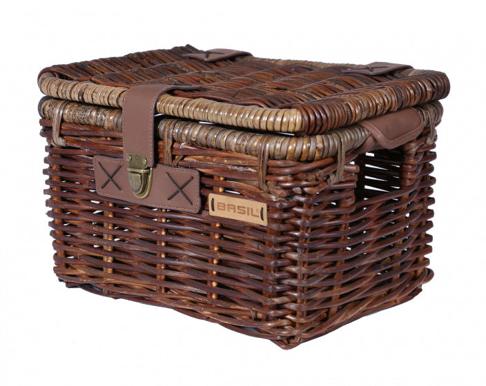 bicycle basket Denton small rattan 22 litres brown