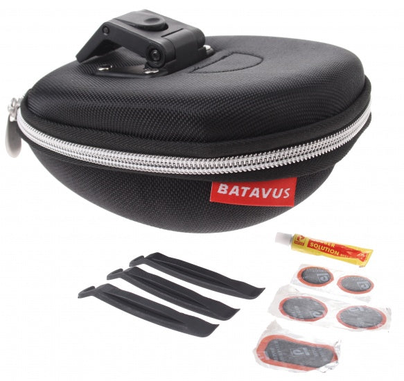 saddlebag with contents Klick 1.3 liters of black
