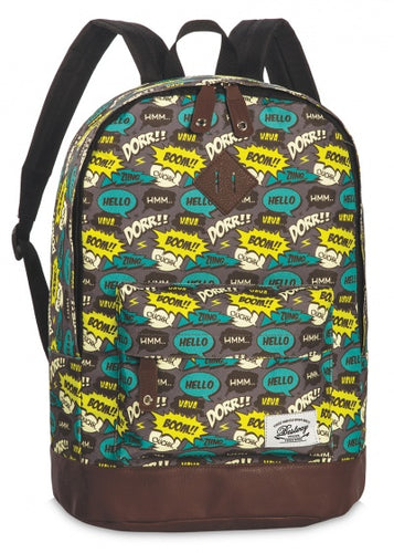 backpack Campus Trend gray / yellow / urquoise 21 liters