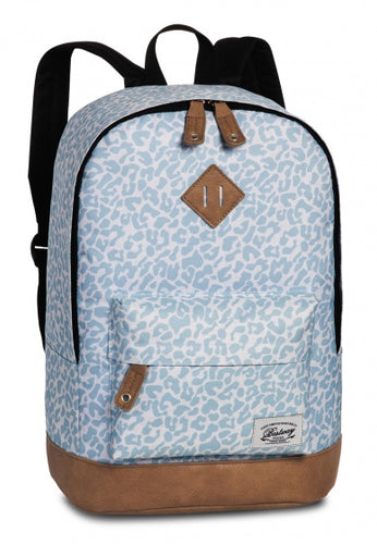 backpack Campus Trendleopard blue/brown 21 litres
