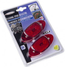 spaakreflectors flashing red LED 2 pieces