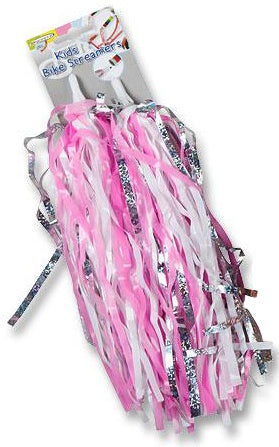 handlebar streamers pink 22 cm 2 pieces