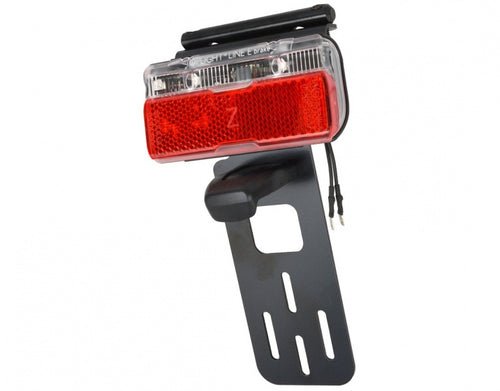 rear light with license plate holder e-bike