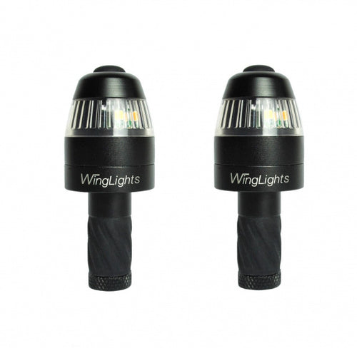 WingLights360 Direction indicator and side lights for bicycle handlebars black