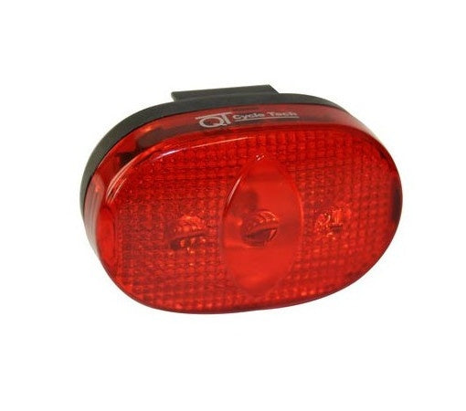 taillight battery 3-led black/red
