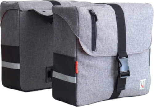 double pannier Cosmo 28 litre polyester grey