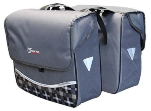 double bicycle bag Smile gray 30 liters
