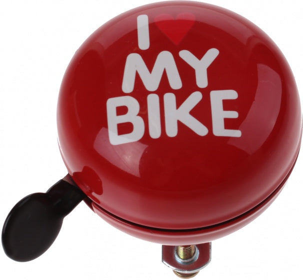 bicycle bell I Love my Bike red 60 mm