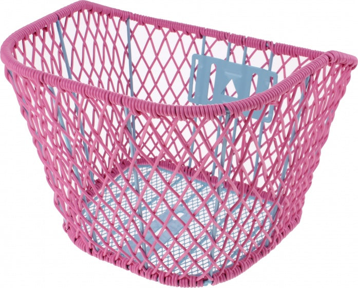 bike basket children's bike pink 9 liters