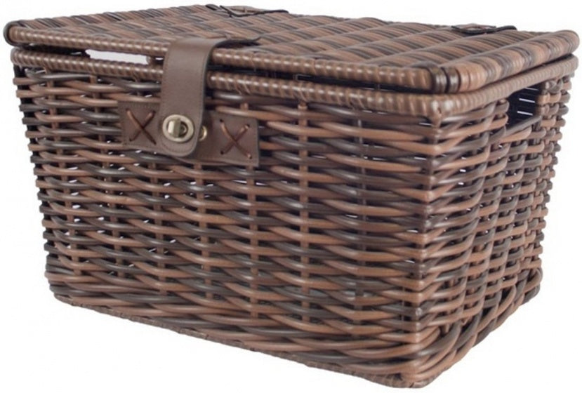 monza bicycle basket for 28.5 litres brown