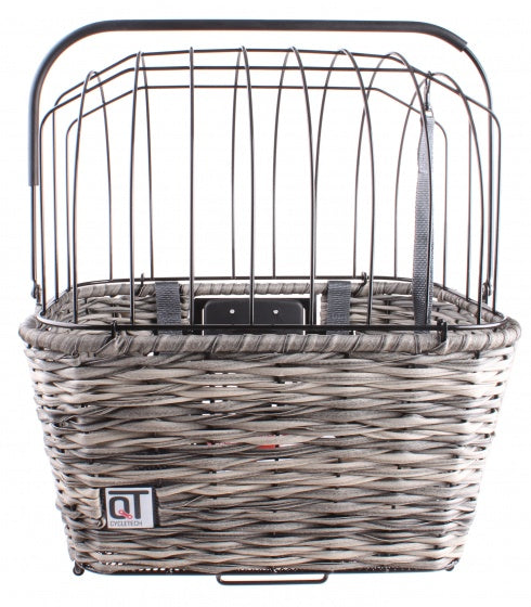 dog basket Romafront/rear 24 liters grey