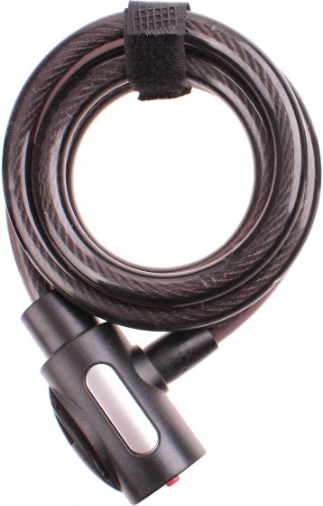 Cable lock 1500 x 12 mm black