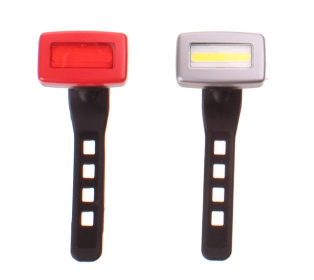 lighting set USB rechargeable led black 11 cm