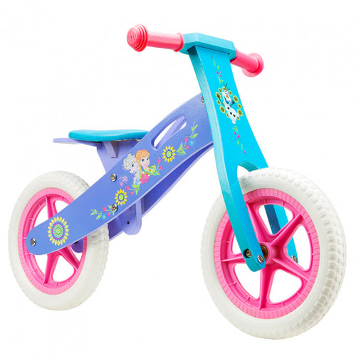 Disney Loopfiets Frozen 12 Inch Girls Pink/Blue