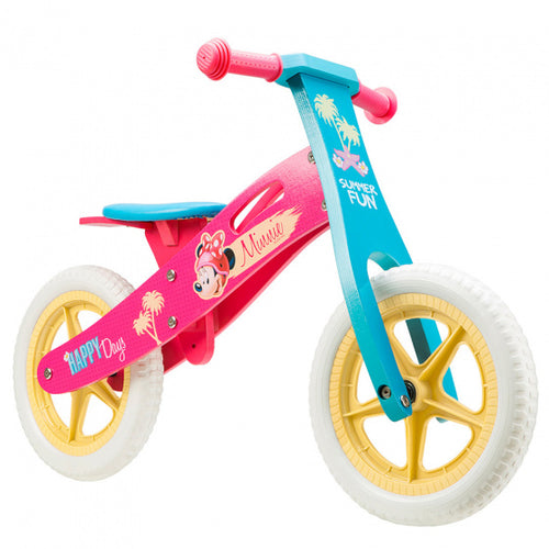 Disney Loopfiets Minnie Mouse 12 Inch Girls Pink/Blue