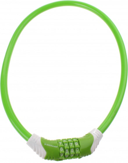 cable lock 650 x 10 mm number combination green