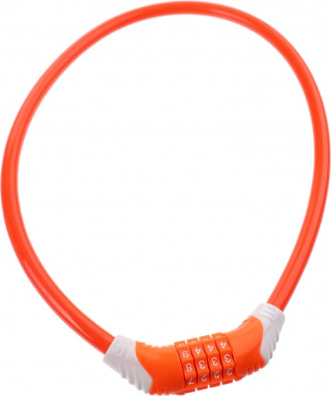 cable lock 650 x 10 mm number combination orange