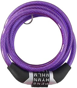 cable lock with password 1200 x 6 mm purple