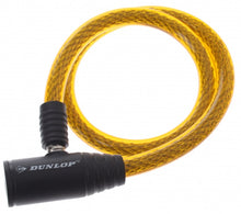 Spiral cable lock 650 x 12 mm yellow