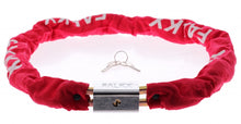 chain lock with nylon sleeve block lock 1200 x 8 mm red