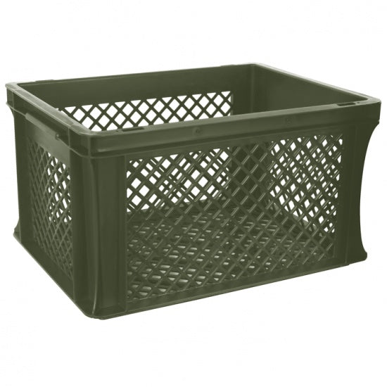 bicycle crate junior 25 liters army green