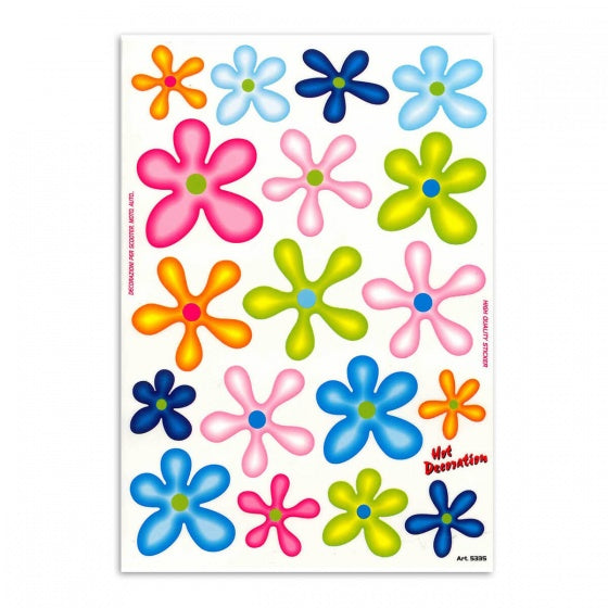 Bike Stickers Flowers Large 34 X 24 cm