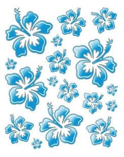 Bike Stickers Hawaiian Flowers 24 X 20 cm