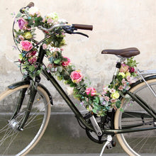 Flower garland for a bike for wedding or personalisation