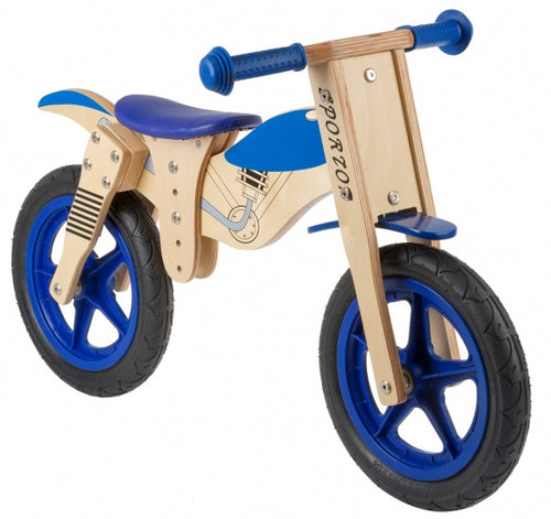 Kids Club Loopfiets Balance 12 Inch Junior Blue/Blank