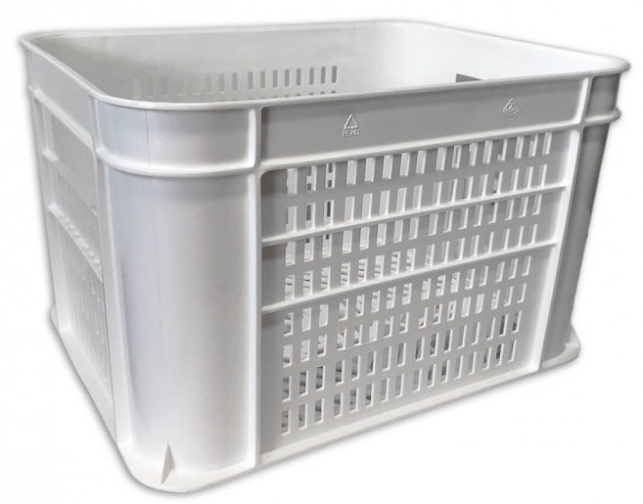 bicycle crate plastic 30 litres white
